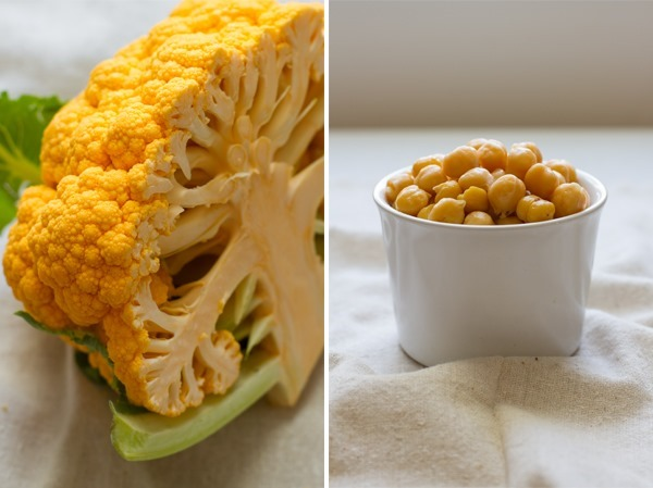 Cauliflower Chickpea Puree // edible perspective
