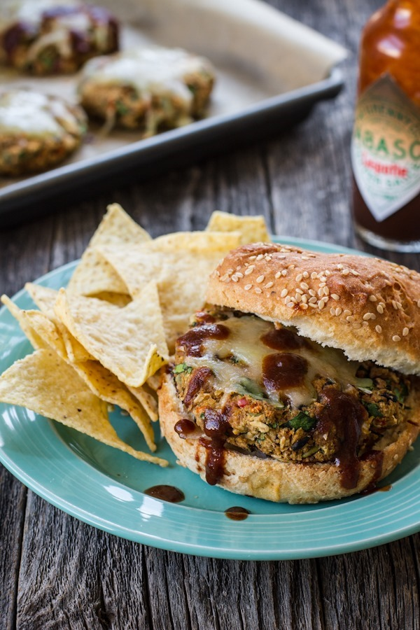 Smoky Black Eyed Pea + Collard Green Veggie Burgers   edibleperspective.com