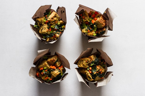 Bread Stuffing Muffin Cups | edibleperspective.com