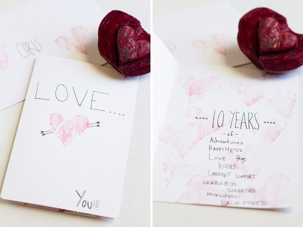 how to make a beet stamp // edible perspective
