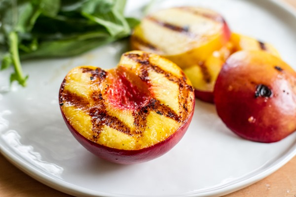 grilled peach + pistachio salad | edible perspective