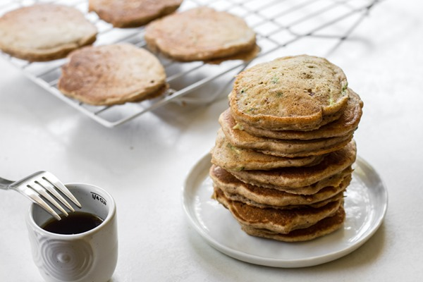 breakfast friday > mini zucchini bread pancakes | edible perspective