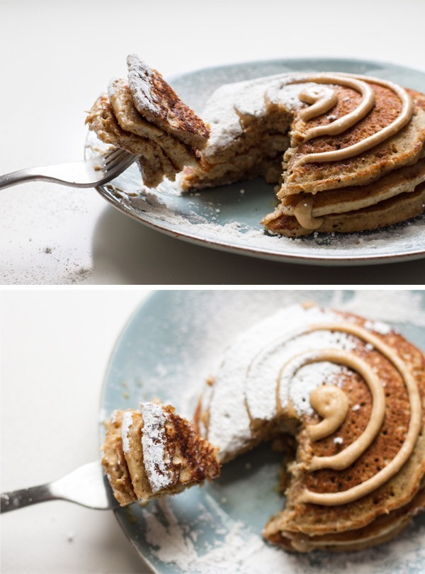 cinnamon roll pancakes (GF) | edible perspective