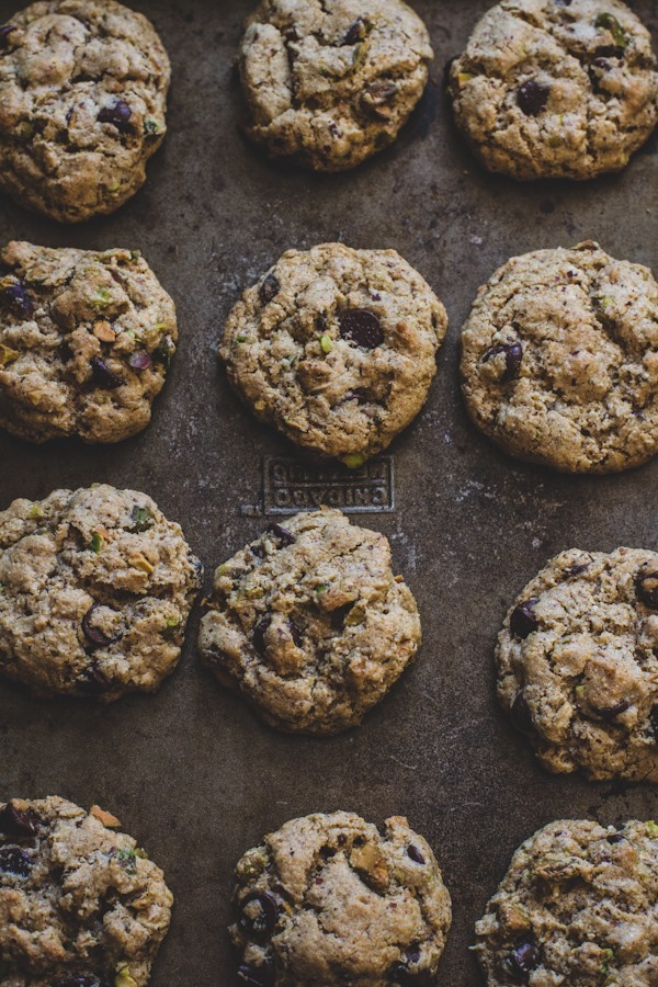 Gluten-Free Chocolate Chip Cookies with Pistachios   edibleperspective.com