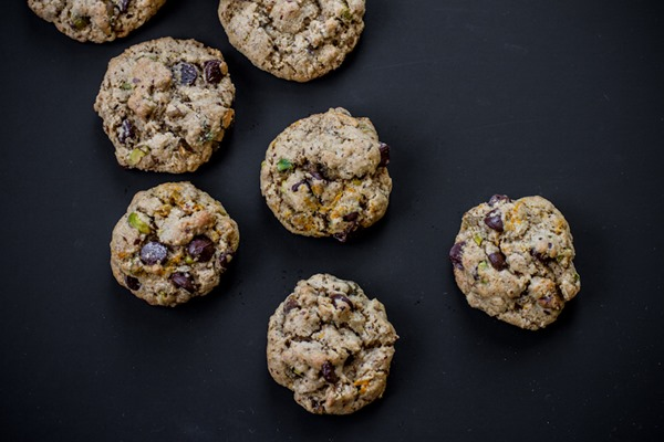 Gluten-Free Chocolate Chip Cookies with Pistachios | edibleperspective.com