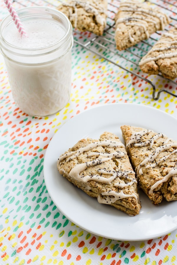 Lemon Poppy Seed Scones | edibleperspective.com #glutenfree