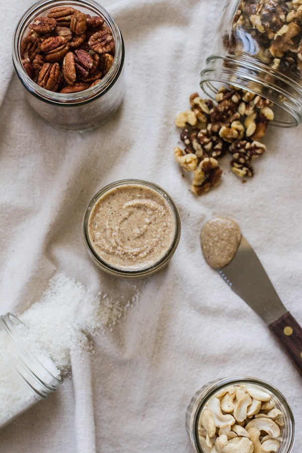 Coconut Pecan Walnut Cashew Butter | edibleperspective.com