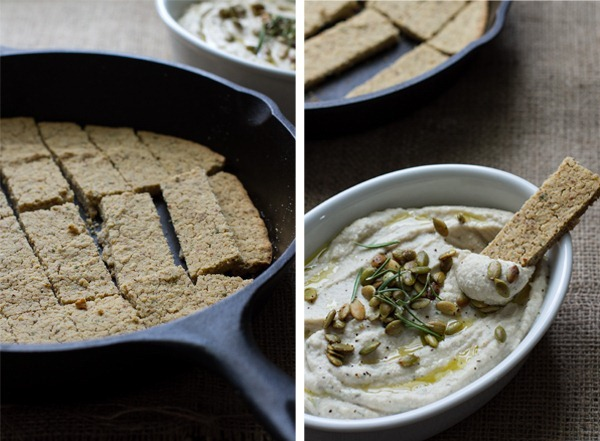lemon herb cauliflower bean dip // edible perspective