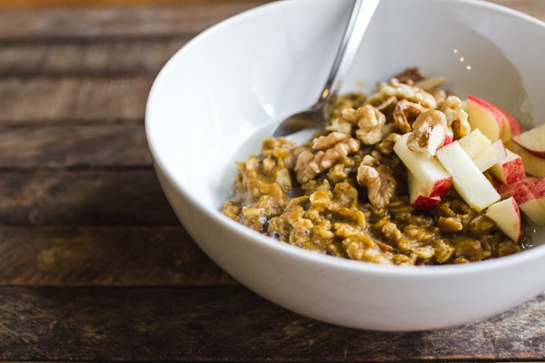 The Best Ever Pumpkin Oatmeal | edibleperspective.com #vegan #glutenfree
