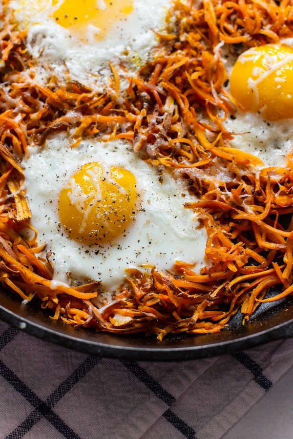 IEasy Sweet Potatoes + Eggs | edibleperspective.com