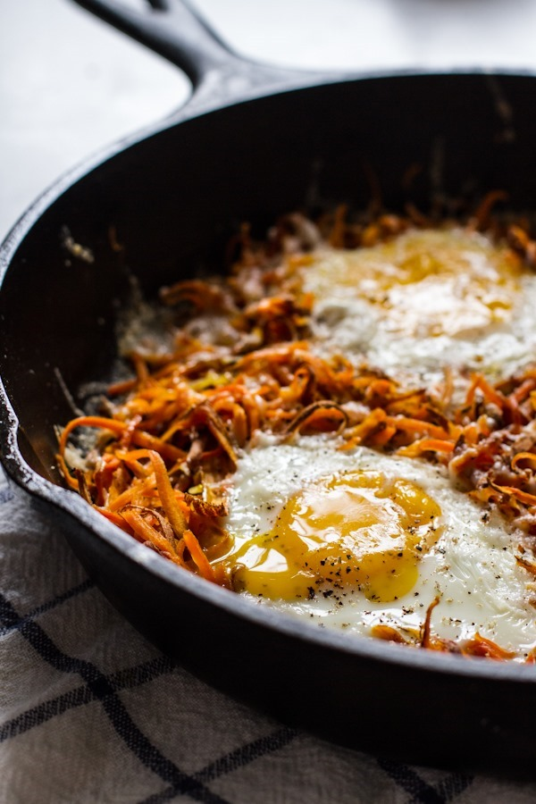 Easy Sweet Potatoes + Eggs | edibleperspective.com