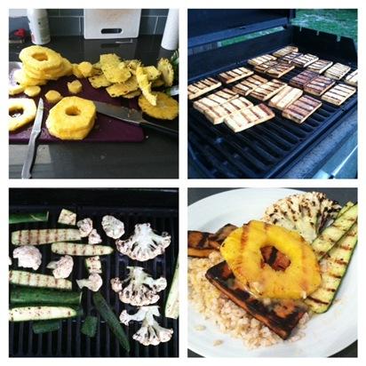 teriyaki grilled tofu with grilled pineapple + coconut ...