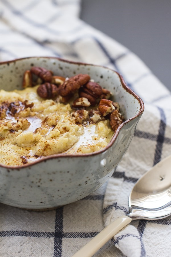Breakfast Friday >> Creamy Millet Porridge | edibleperspective.com