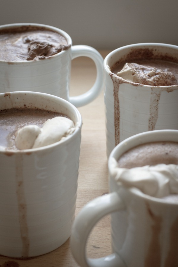 single serving vegan hot cocoa 4 ways | edible perspective
