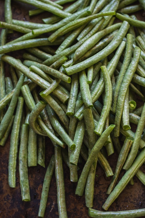 Roasted Garlic Green Beans with Lemon and Parmesan | edibleperspective.com