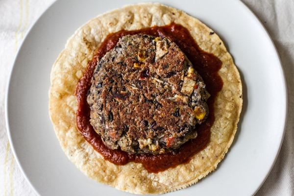 Enchilada Veggie Burgers | edibleperspective.com