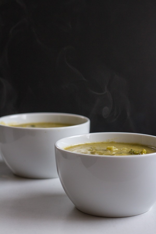 Creamy Vegan Broccoli Potato Soup | edibleperspective.com