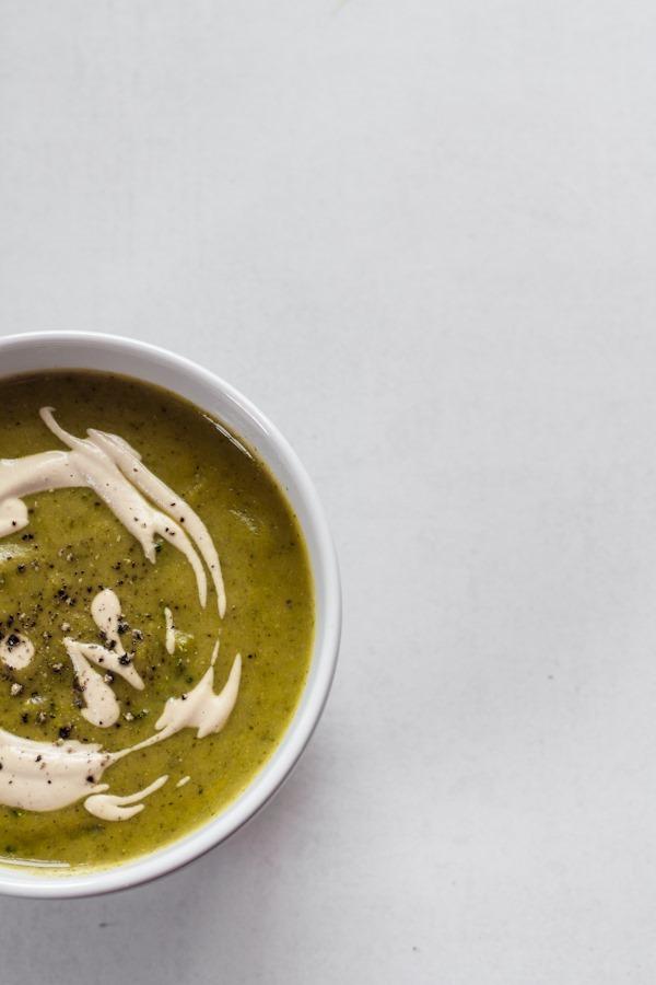 Creamy Vegan Broccoli Potato Soup | edibleperspective.com