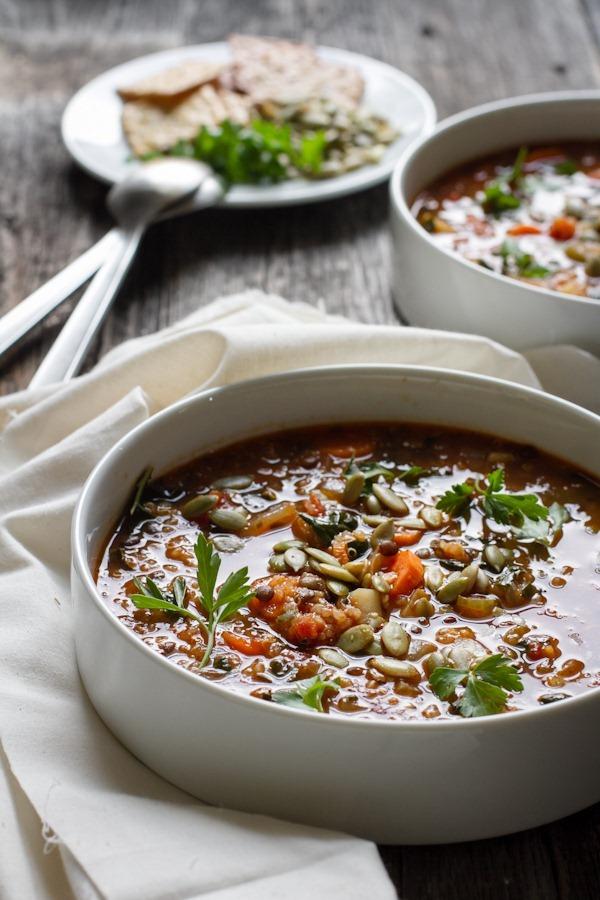 quinoa lentil vegetable soup + an e-cookbook! | edible perspective