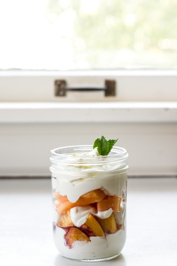 breakfast friday >> summer fruit parfait with lime sugar + mint | edible perspective
