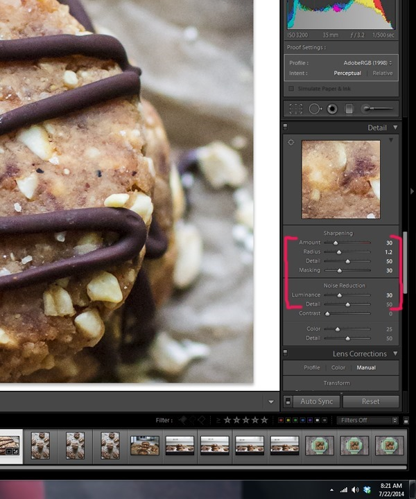 Food Photography Tip of the Week 18 - Diminish noise in your photos with Lightroom | edibleperspective.com