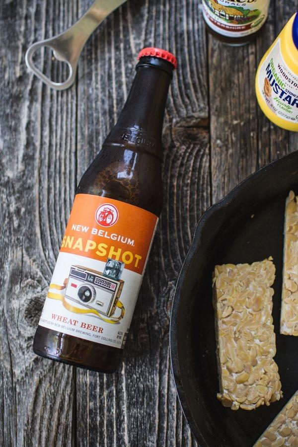 Beer Baked Tempeh Reubens | edibleperspective.com