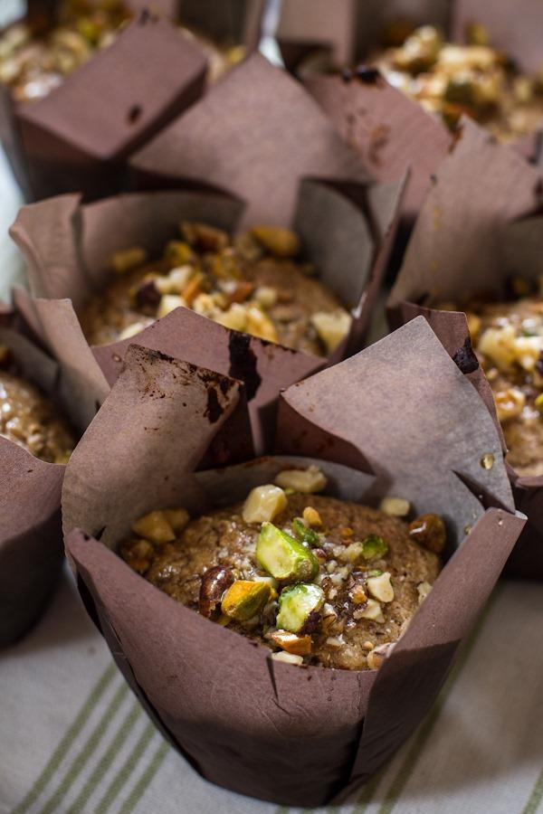 Crunchy + Sweet Baklava Muffins | edibleperspective.com