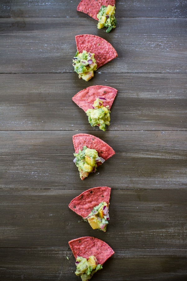 Stone Fruit Summer Guacamole | edibleperspective.com