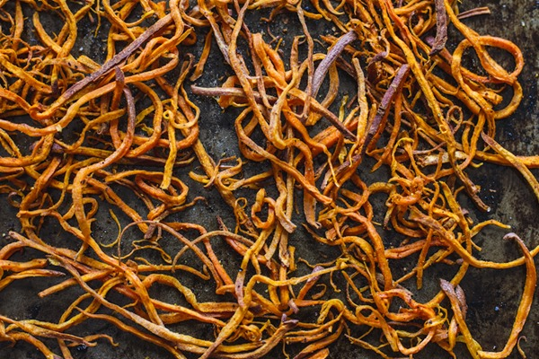 Crispy Sweet Potato Straws | edibleperspective.com