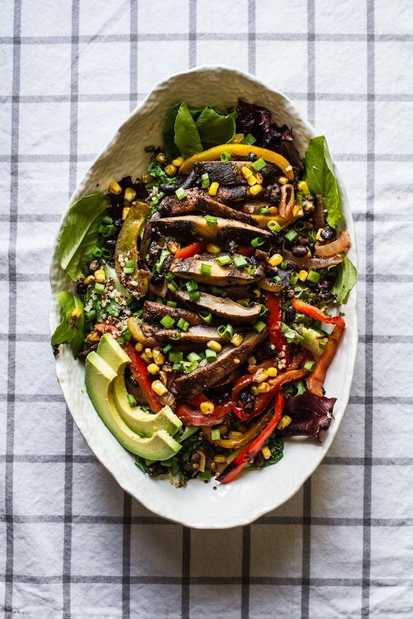 Grilled Veggie Fajita Salad | edibleperspective.com