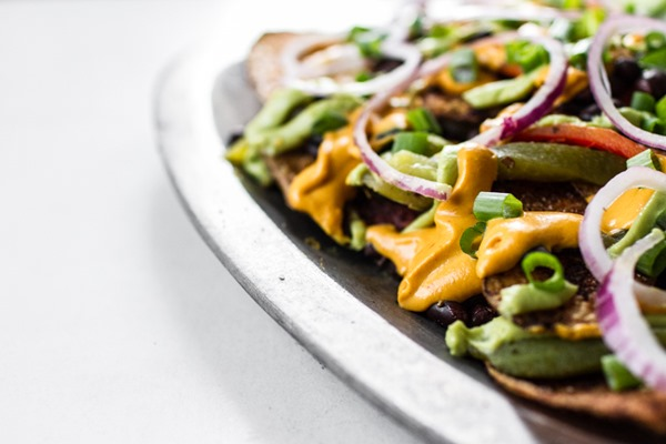 Vegan Nachos Supreme | edibleperspective.com #vegan