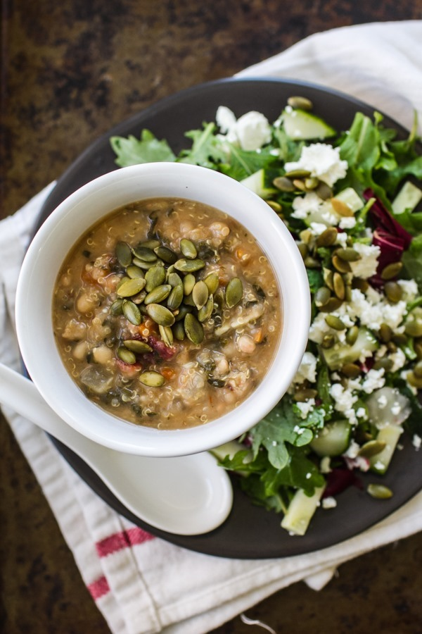 Golden Quinoa and Kale Soup | edibleperspective.com