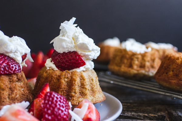 Mini Strawberry Shortcakes with Whipped Cream | edibleperspective.com