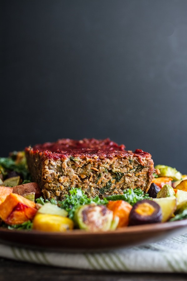 Lentil Rice Veggie Loaf | edibleperspective.com #thanksgiving