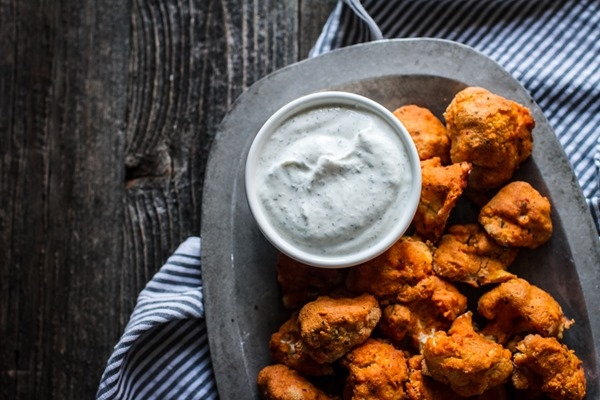 Buffalo Cauliflower Bites | edibleperspective.com