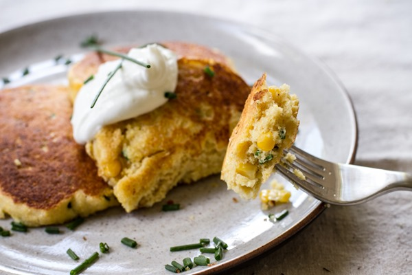 breakfast friday >> savory cornbread pancakes | edible perspective