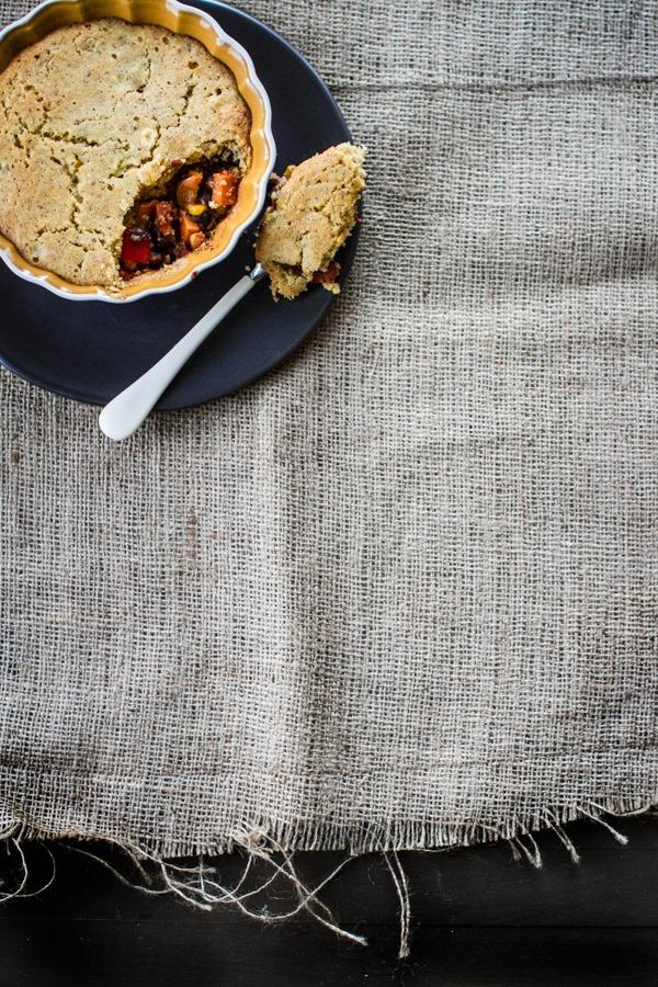 Individual Veggie Tamale Pies | edibleperspective.com