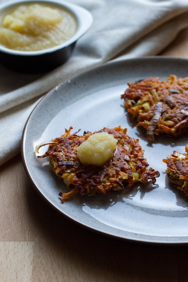 Sweet Potato Leek & Sage Latkes | Edible Perspective