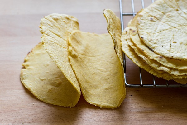 homemade corn tortillas + tortilla chips // edible perspective