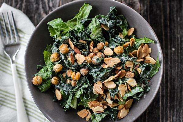 Vegan Caesar Salad | edibleperspective.com