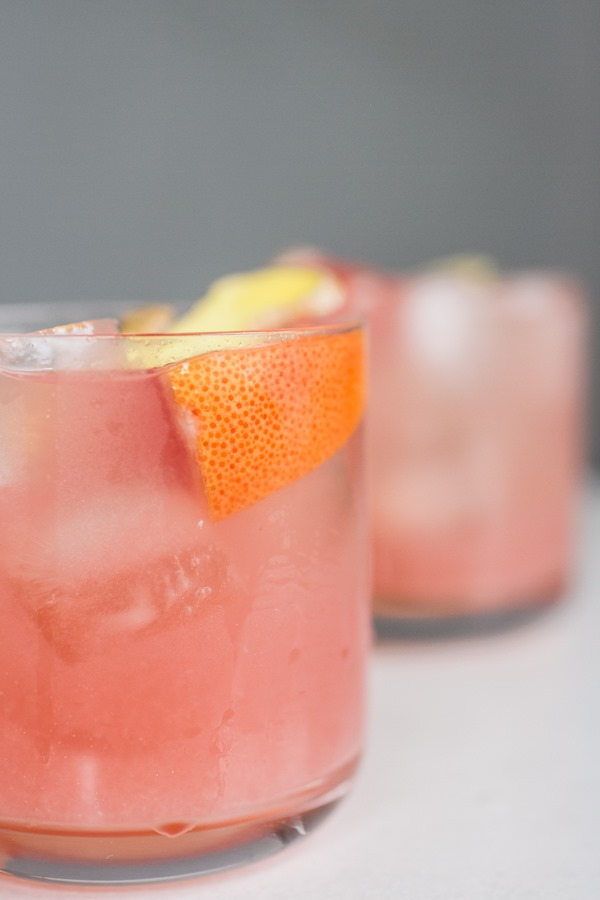 Ruby Red Grapefruit Ginger Cocktail | edibleperspective.com