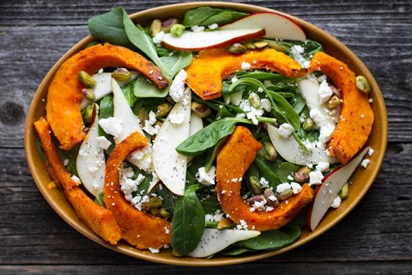 Kabocha Squash Salad with Orange Pistachio Vinaigrette - edible perspective-11
