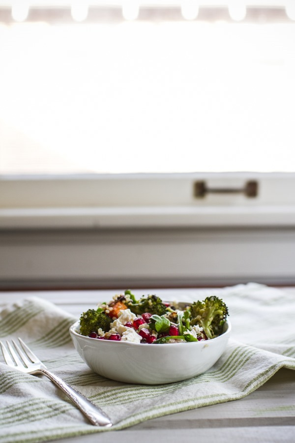 Broccoli and Butternut Squash Grain Salad with Orange Vinaigrette | edibleperspective.com