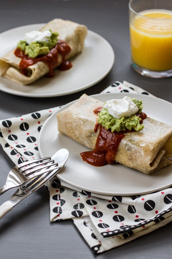 Simple Breakfast Burritos | edibleperspective.com #glutenfree