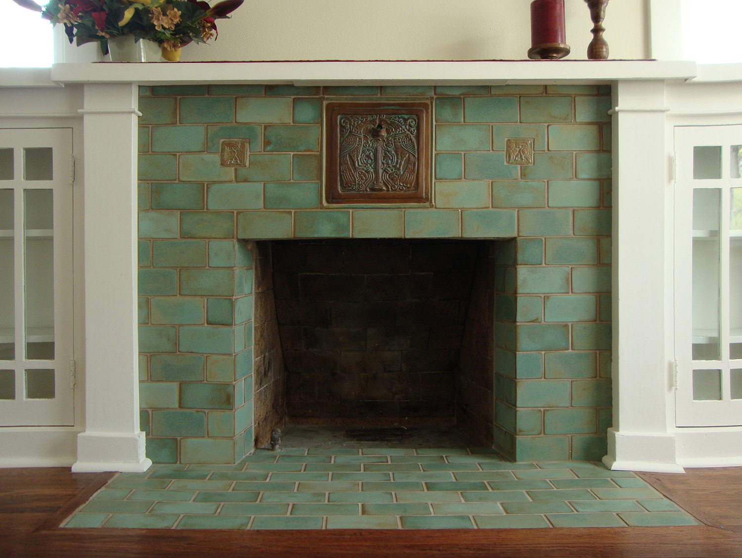 fireplaces u2014 pasadena craftsman tile