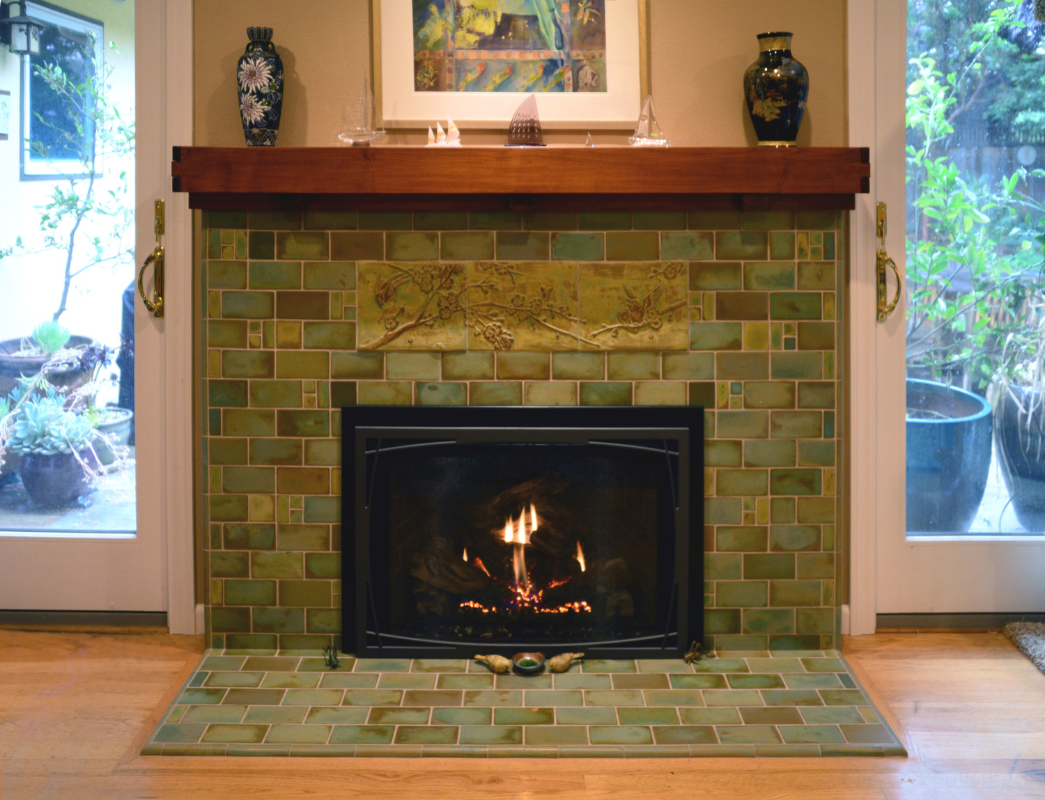 Custom tile and tile design in the Craftsman tradition.