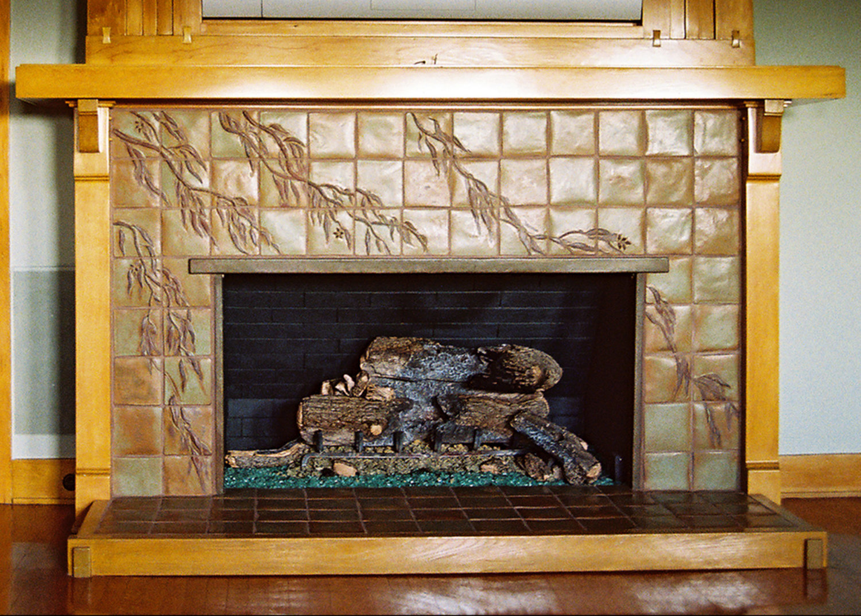 fireplaces u2014 pasadena craftsman tile