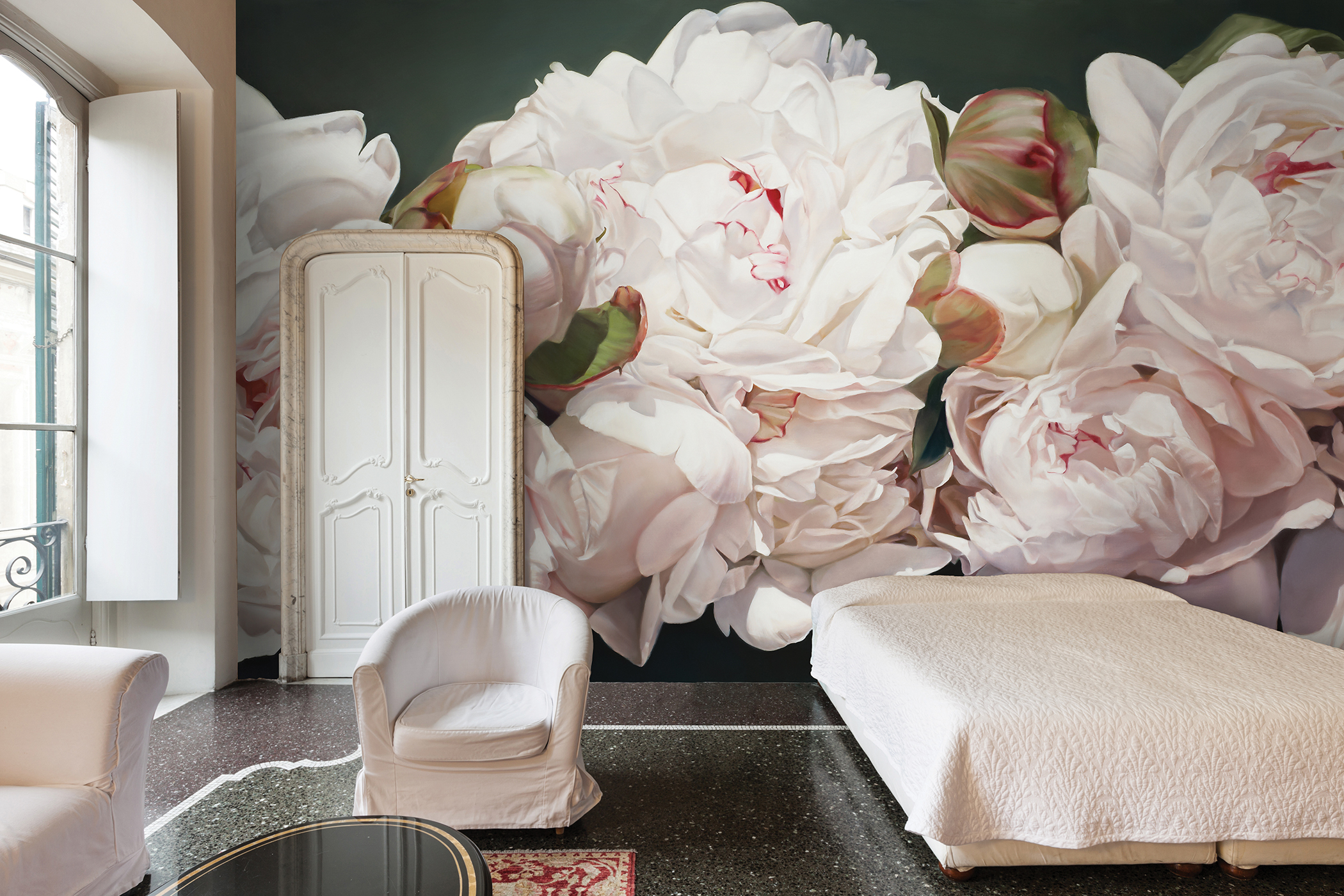 TD 2 Peonies White Area Environments