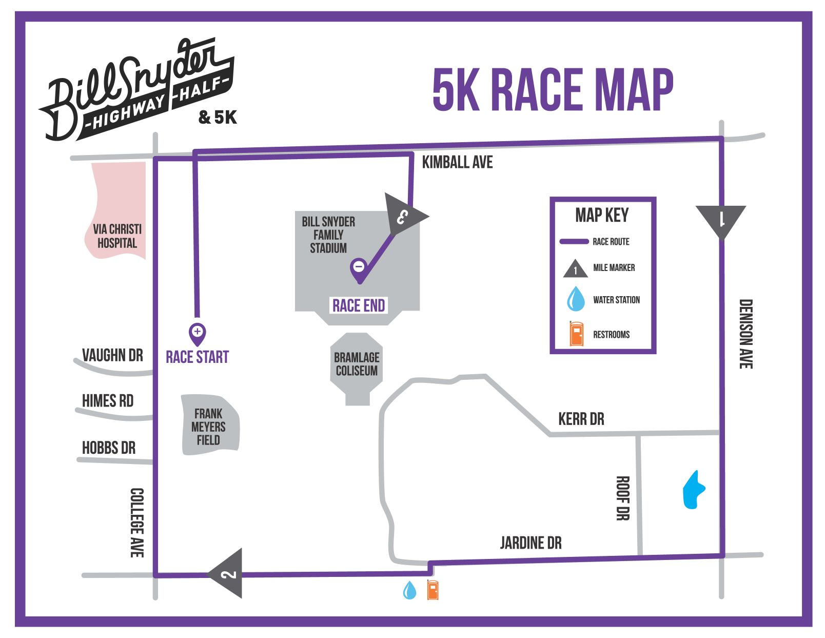 Course Map — Bill Snyder Highway Half & 5K on ksu map, westfield state map, k-state equestrian team, k-state football helmet, k-state alma mater, k-state moore hall, westmoreland kansas city map, emporia map, k-state manhattan kansas, k-state athletics, k-state phase 4, k-state clip art, wichita state university parking map, k-state coloring pages, k-state webmail, k-state marching band, k-state volleyball, k-state online, k-state backgrounds,