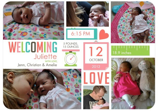Juliette Announcement